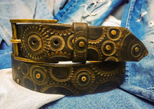 Gear belt - Dark brown & Gold