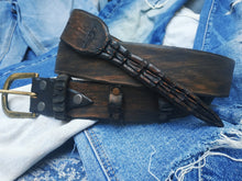 Narrow alligator tail belt