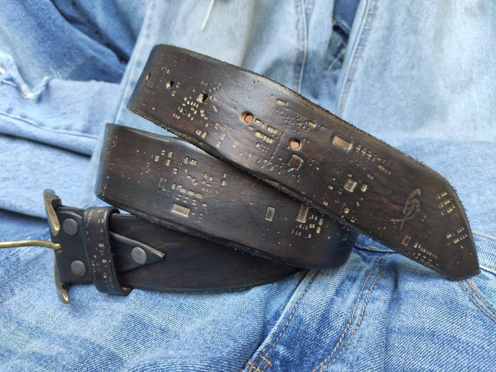 Brown leather Belt,Computer accessories, Women's Style, Men's Brown Leather, Christmas Gift, Custom leather belts Crafted Belt,Unique Belt