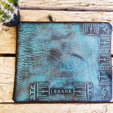 Turquoise Mouse pad with stamps