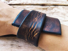 Wide brown leather wrap
