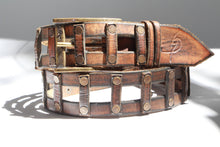 Brown leather belt - Stairway to heaven