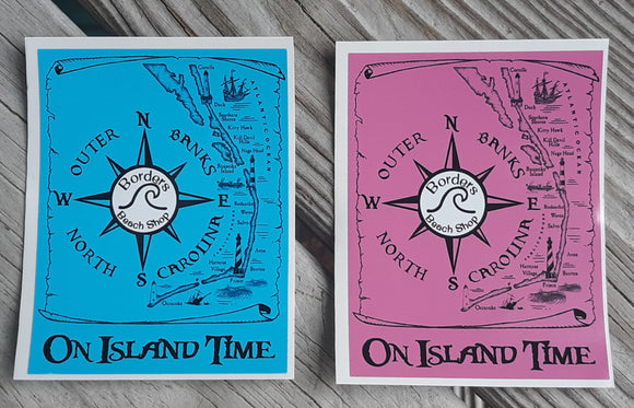 On Island Time Stickers