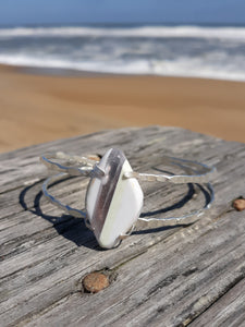 Surfglass Sterling Silve Cuff