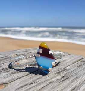 Surfglass Sterling Silver Cuff