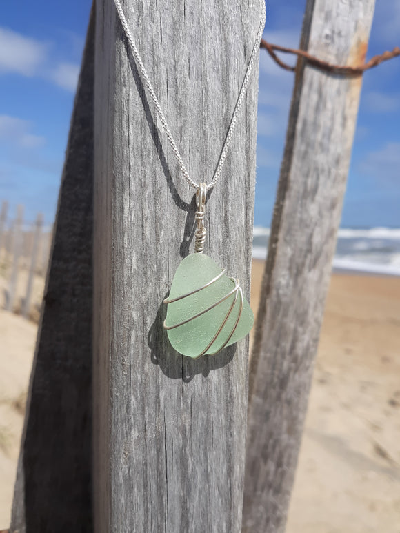 Seafoam Beachglass Necklace