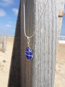 Cobalt Blue Beachglass Necklace