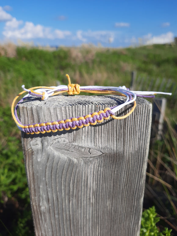 Handwoven Macrame Adjustable Cord Anklet