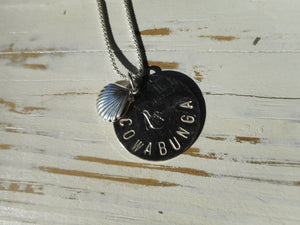 Hand Stamped Cowabunga Catch A Wave Necklace