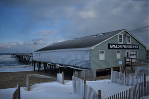 Frozen Avalon Pier