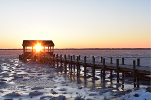 Frozen Sunset through Pier House