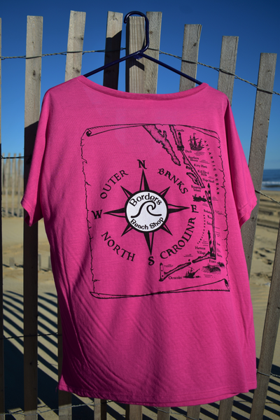 Borders Beach Shop On Island Time T-Shirt