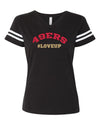 Womens #LoveUp Home NFL V Neck - San Francisco