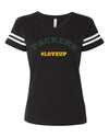 Womens #LoveUp Home NFL V Neck - Green Bay