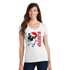 Womens #LovePup Holiday Short Sleeve V-Neck
