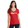 Womens #LoveUp Holiday Short Sleeve V-Neck
