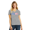 Womens #LoveUp 4th of July V-Neck