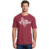 Men's #LoveUp Crew Neck Red T-Shirt Texas State