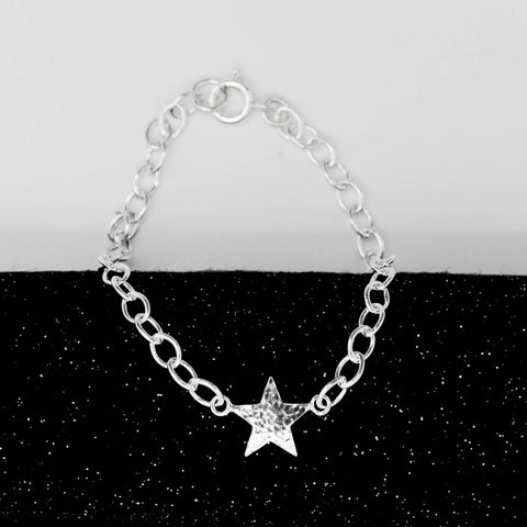 Asteria Hammered Star Bracelet - Large