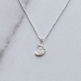 Diana Hammered Crescent Moon Pendant