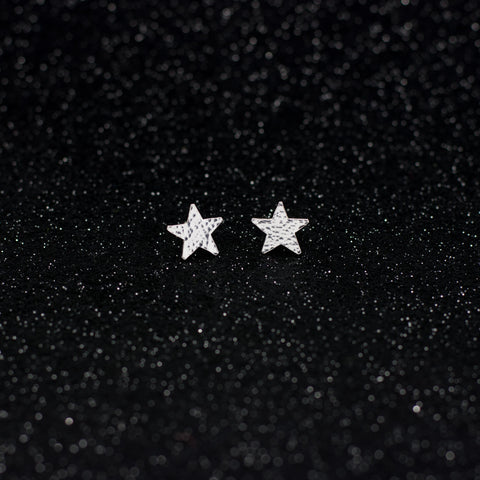 Asteria Hammered Star Studs - Large