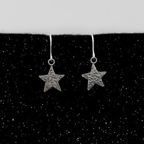 Asteria Hammered Star Earrings - Large