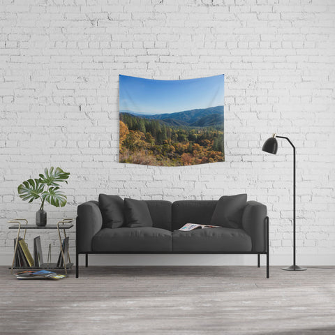 Fall Mountains Tapestry