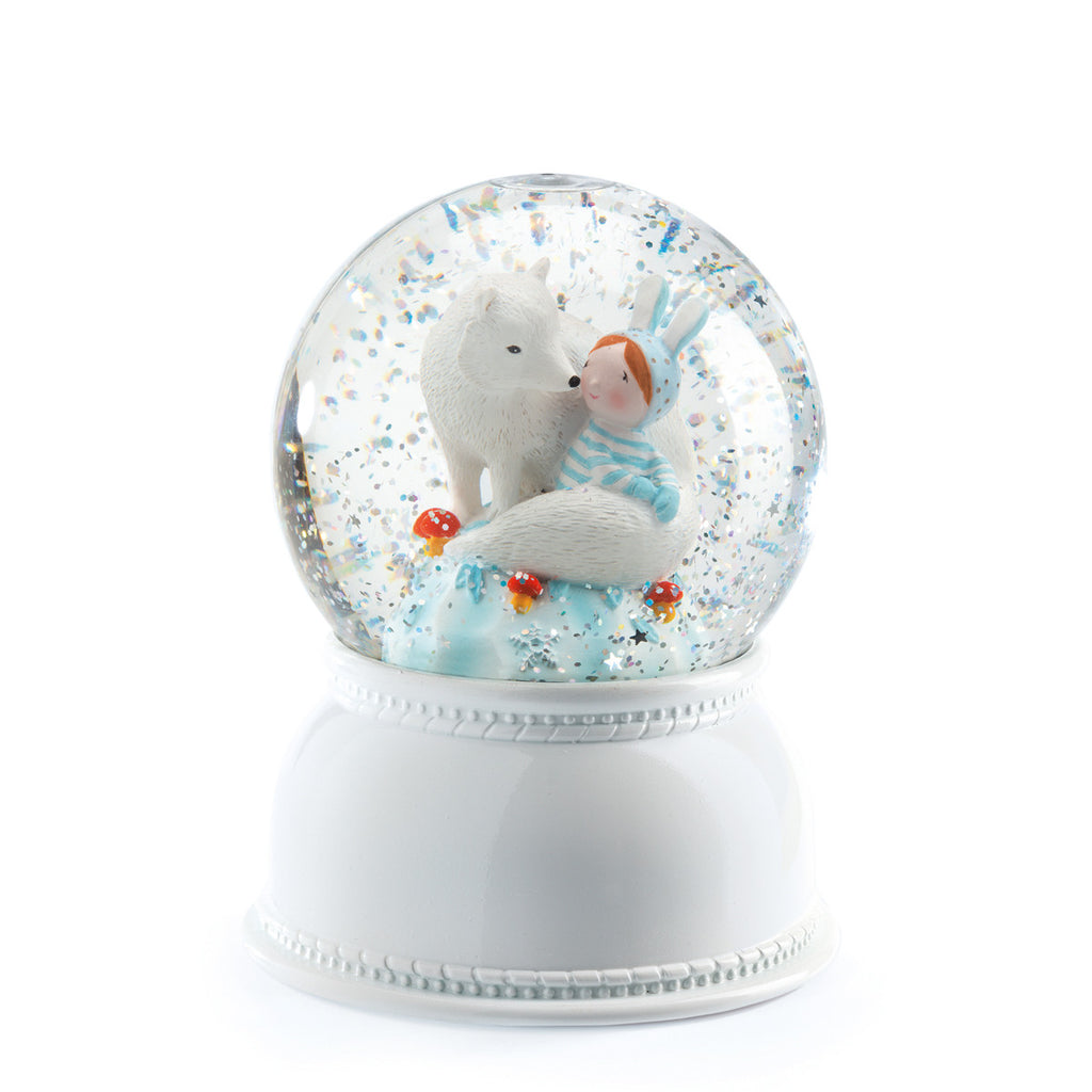 Djeco Globe Night Light - Lila & Pupi