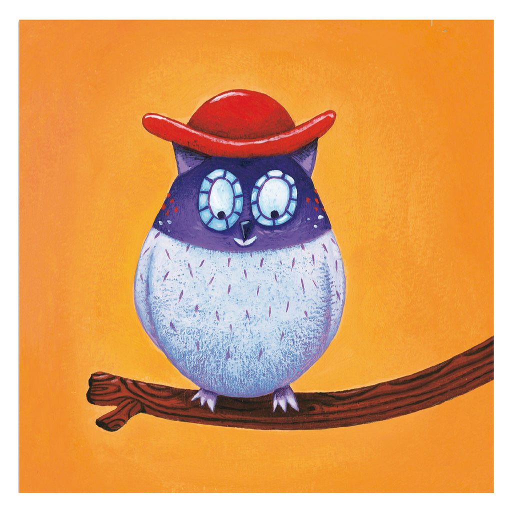Djeco Art Stickers - Create Animals Owl with Hat DJ08932