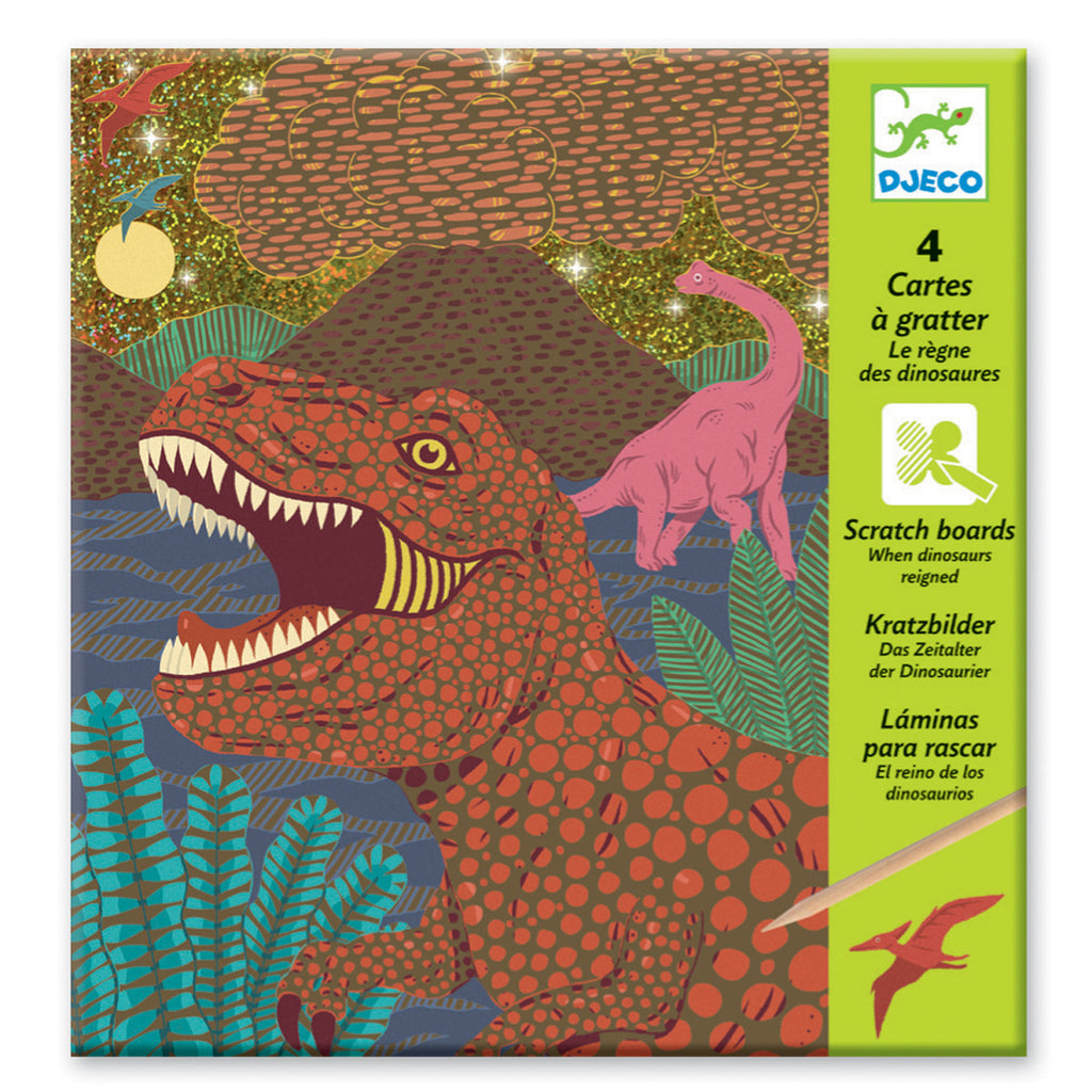 Djeco Art- Scratch Art - When Dinosaurs Reigned Packaging Box DJ09726