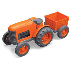 BigJigs Toy- Green Toys Orange Tractor BJGTTRT01042