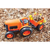 Image of BigJigs Toy- Green Toys Orange Tractor in Action BJGTTRT01042