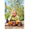Image of BigJigs Toy- Green Toys Orange Tractor Child Plays with Tractor BJGTTRT01042