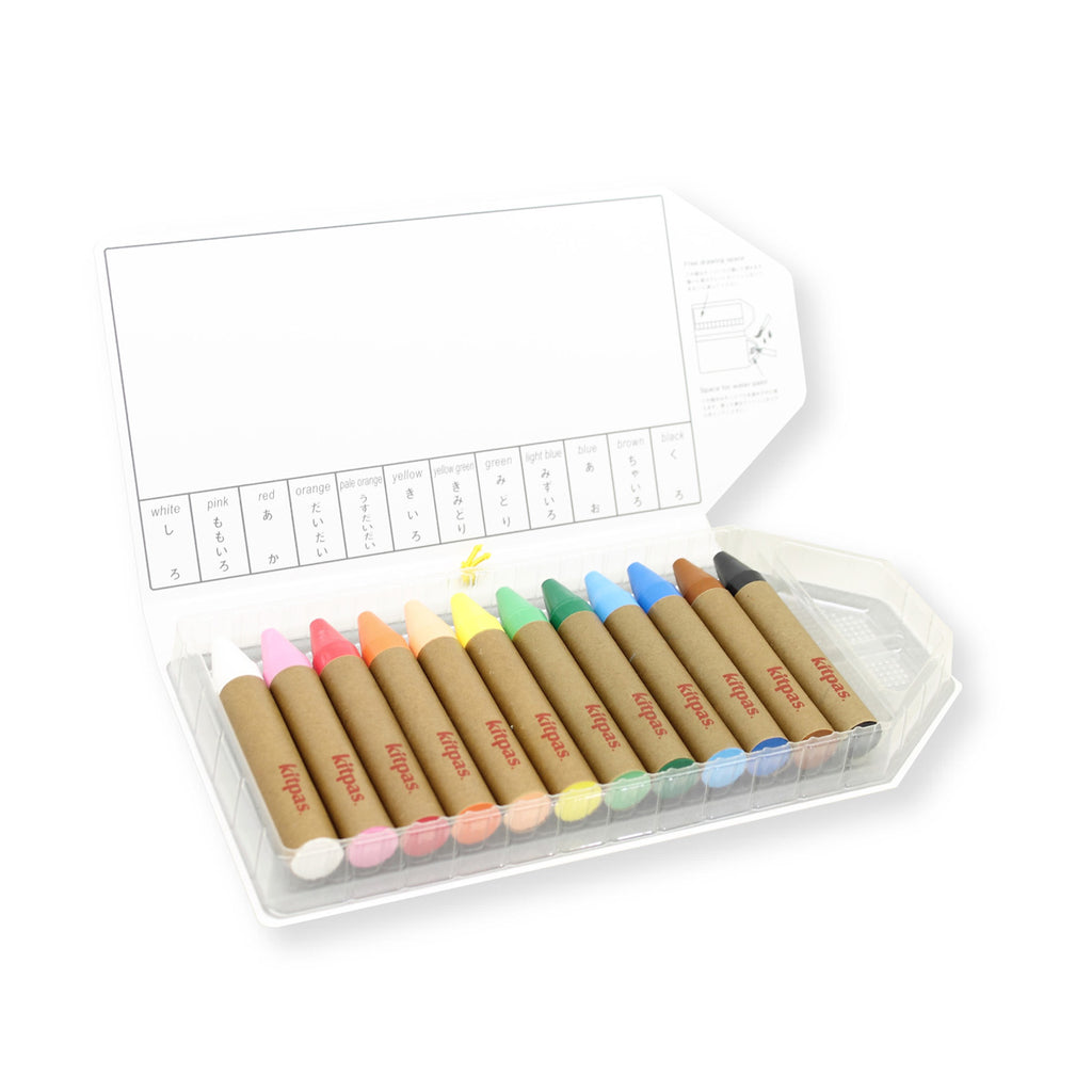 Kitpas Large Crayons 12 Colours