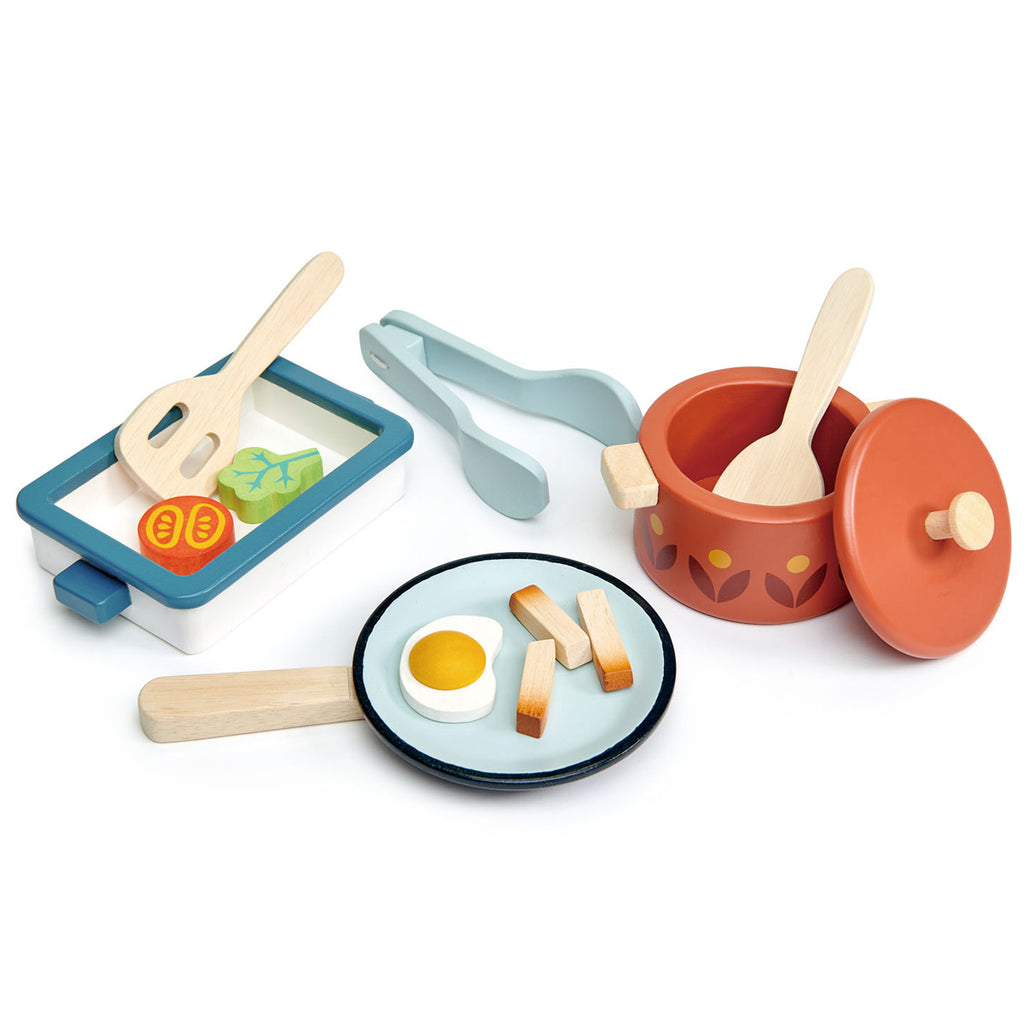 Tender Leaf Wooden Play Pots & Pans