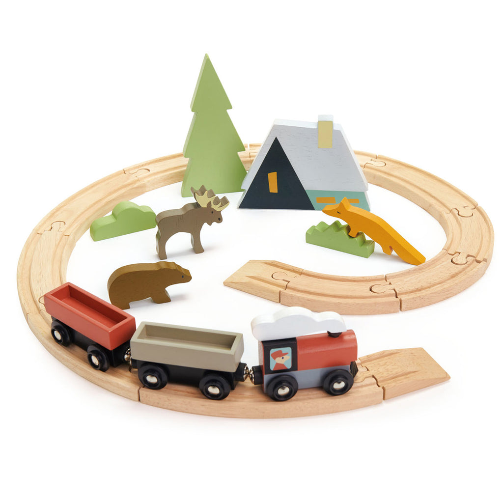 Treetops Wooden Train Set