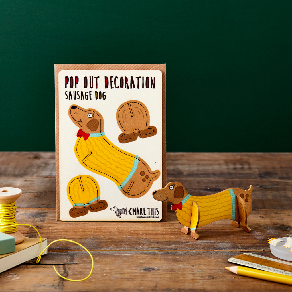 Sausage Dog - Pop Out Card