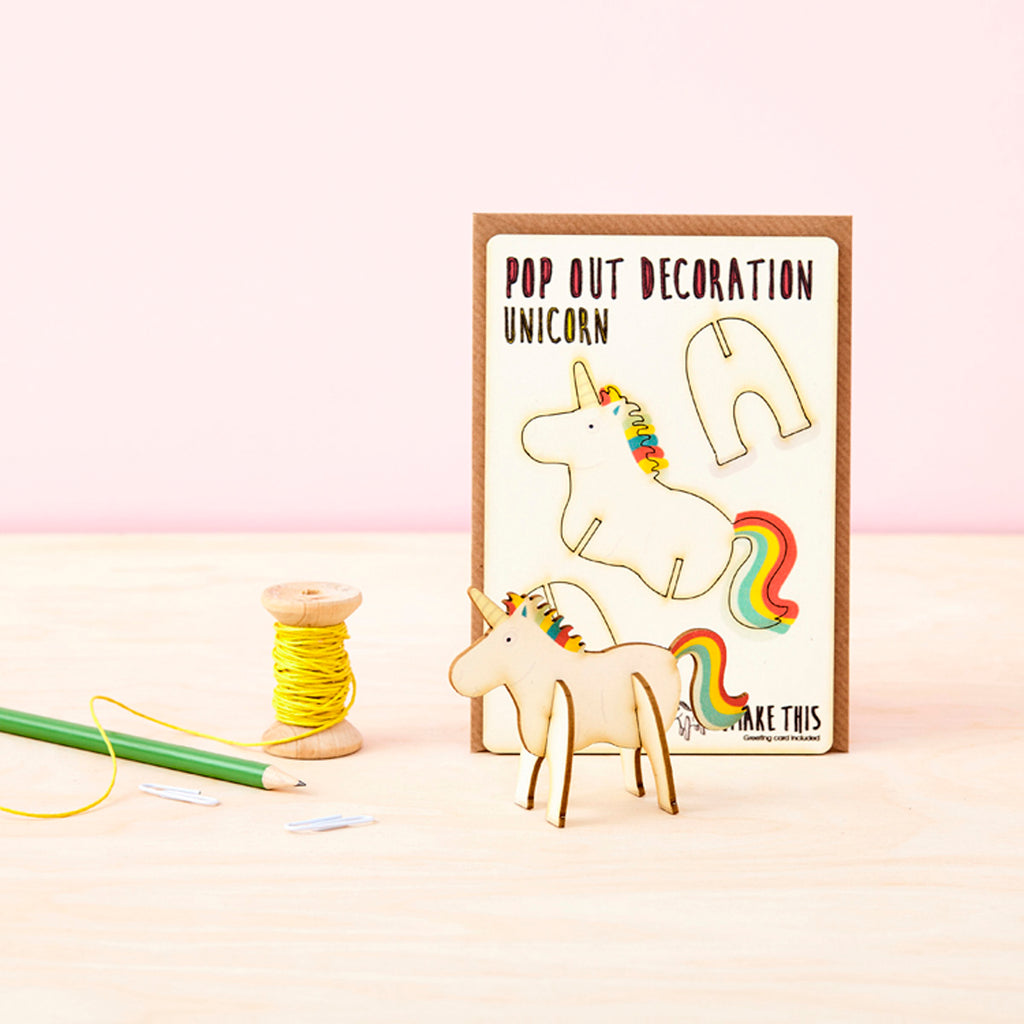 Unicorn - Pop Out Card
