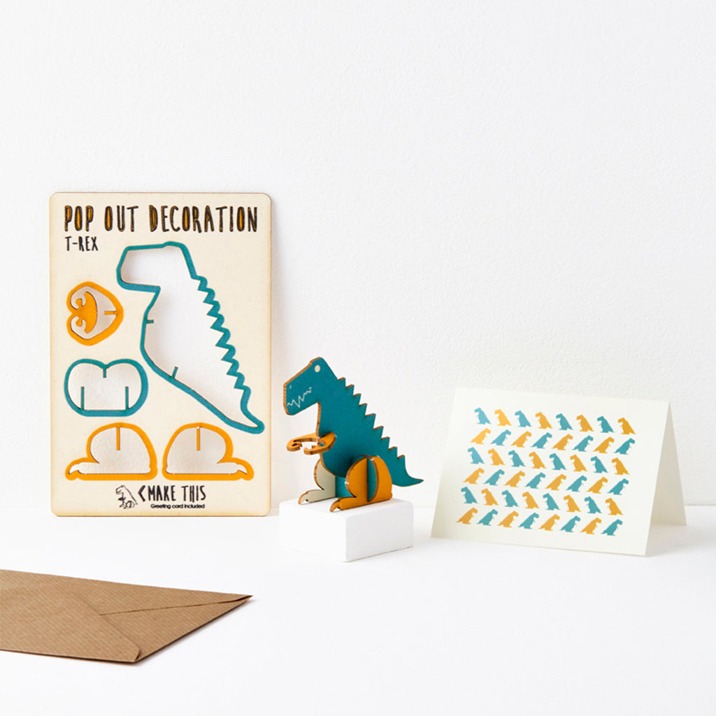 Dinosaur - Pop Out Card