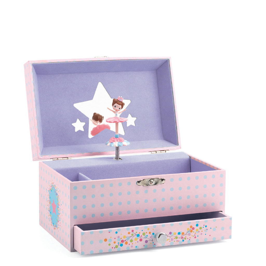 Djeco Toy- The Ballerina's Tune Jewellery Box DJ06597