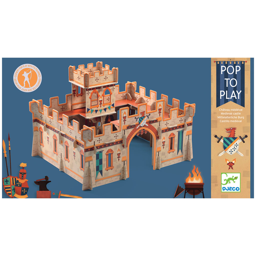Pop to Play Medieval Castle By Djeco