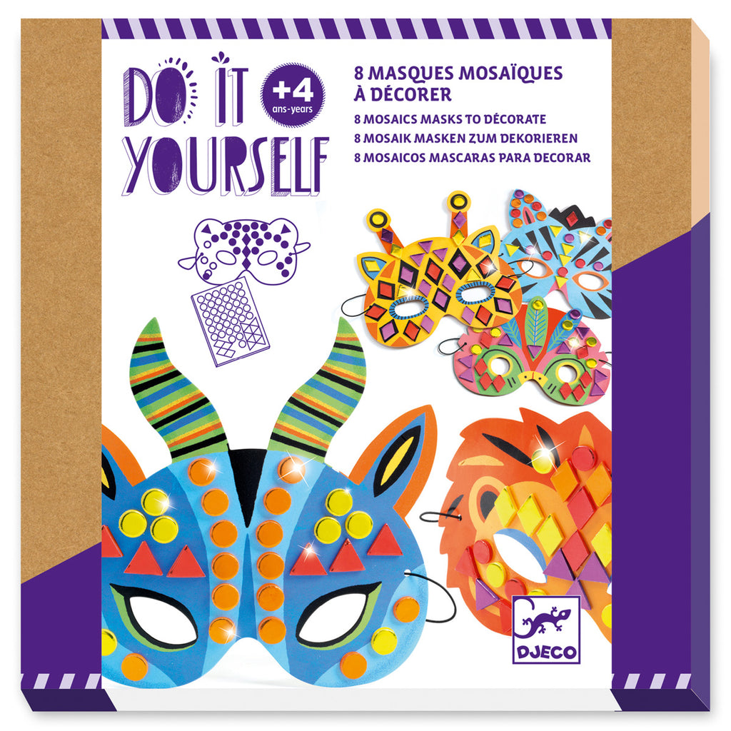 DIY Mosaic Masks - Jungle animals