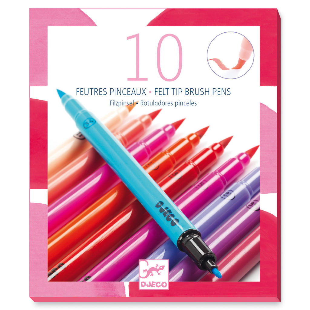 Djeco Colours - 10 Sweet Felt Brush Pens