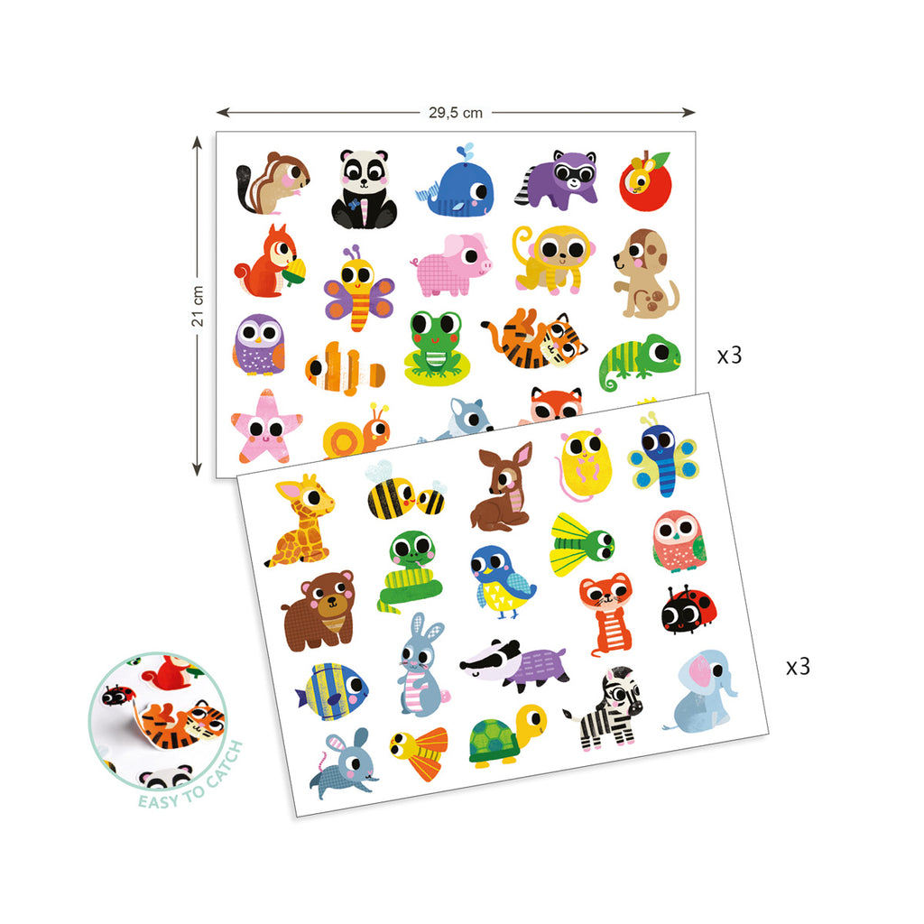 Djeco Fun With Stickers - Baby Animals