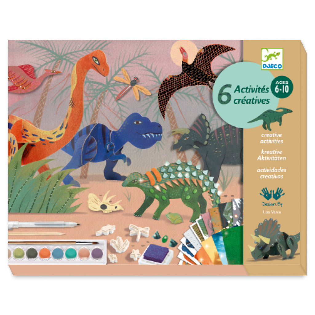 Djeco Big Art Box - World Of Dinosaurs