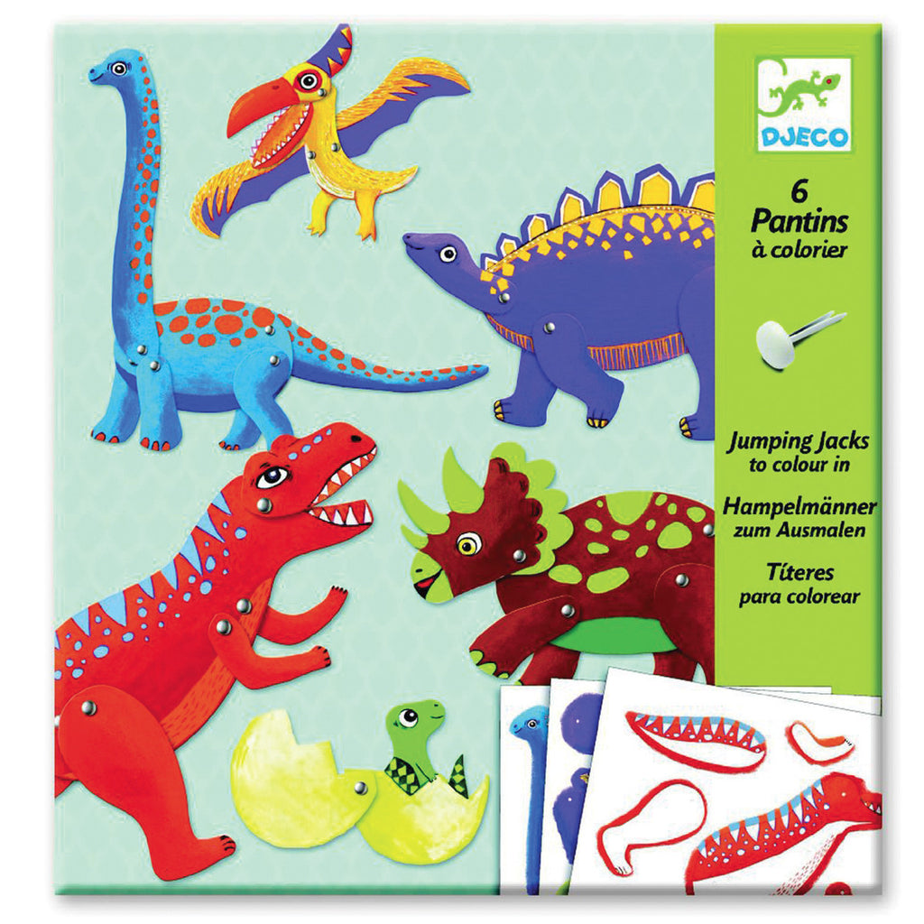 Djeco Art- Dinos Jumping Jacks Packaging Box DJ09680