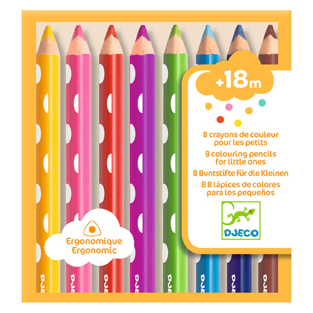 Djeco Colours - 8 First Colouring Pencils
