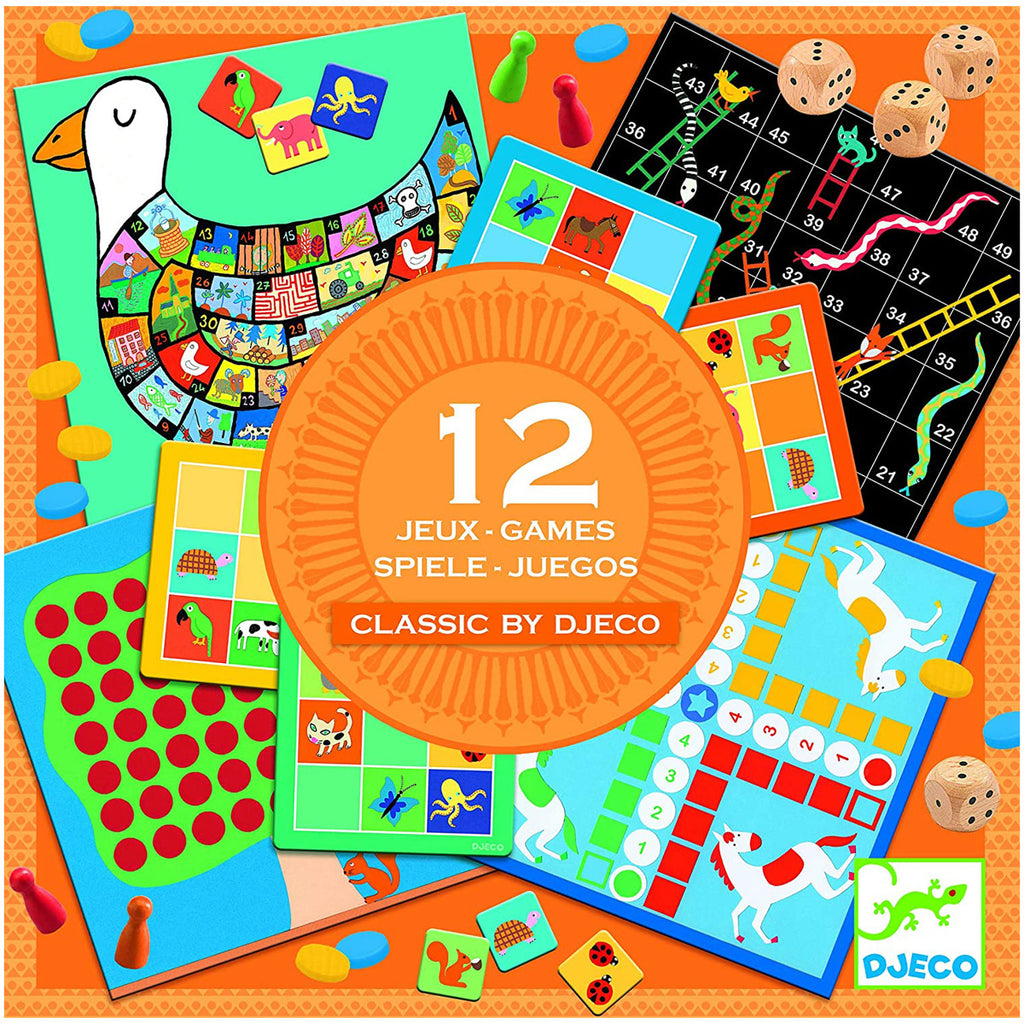 Classic 4+ Games Box By Djeco