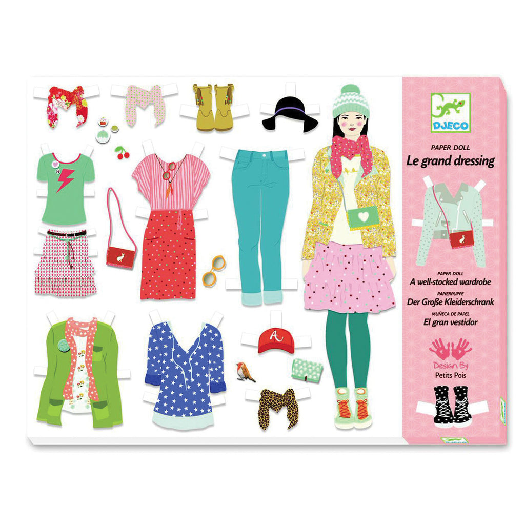 Djeco Art- Paper Dolls - Big Dressing Room Packaging Box DJ09825