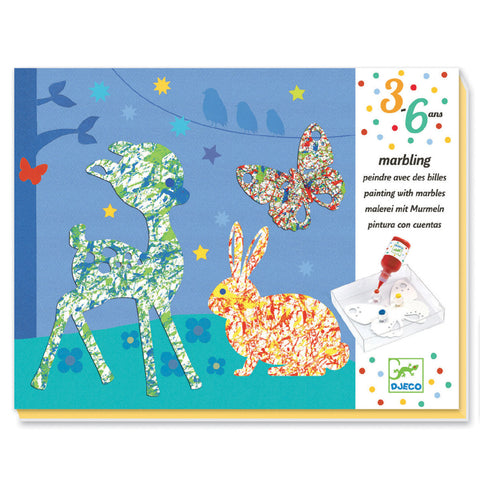 Djeco Art- Colourful Parade Marbling Art Packaging Box DJ09686